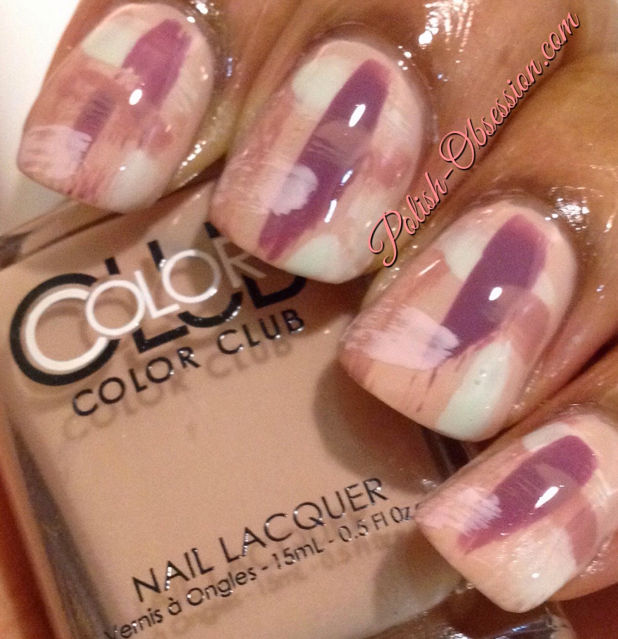 Brush Stroke Nail Art Color Club Shift Into Neutral Polish Obsession