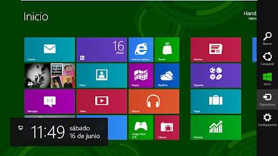Меню  СТАРТ в ОС Windows 8