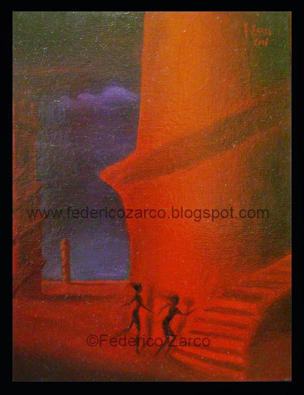 pinturas surrealistas de paisajes y amor