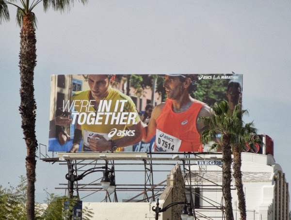 We're in it together Asics LA Marathon 2014 billboard