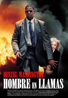 Hombre en Llamas Poster