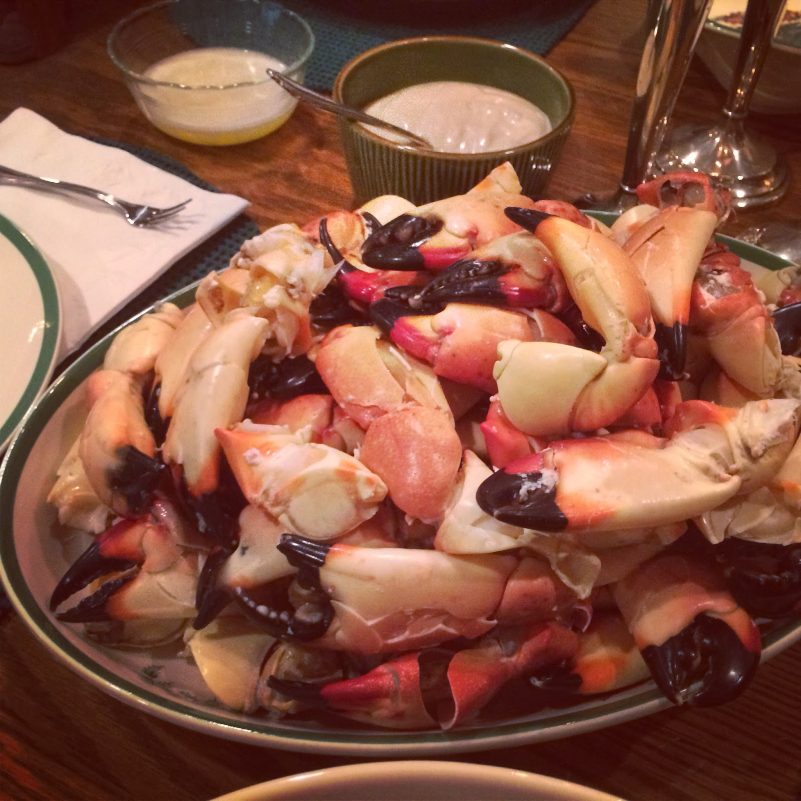 Little Cook in the Big City: Stone Crabs with Mustard Sauce