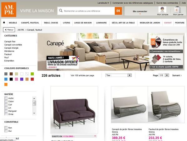 tendance info le top sur la redoute ampm ampm les aubaines sur. Black Bedroom Furniture Sets. Home Design Ideas