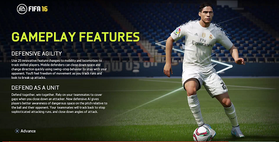 FIFA 16 Gameplay Features