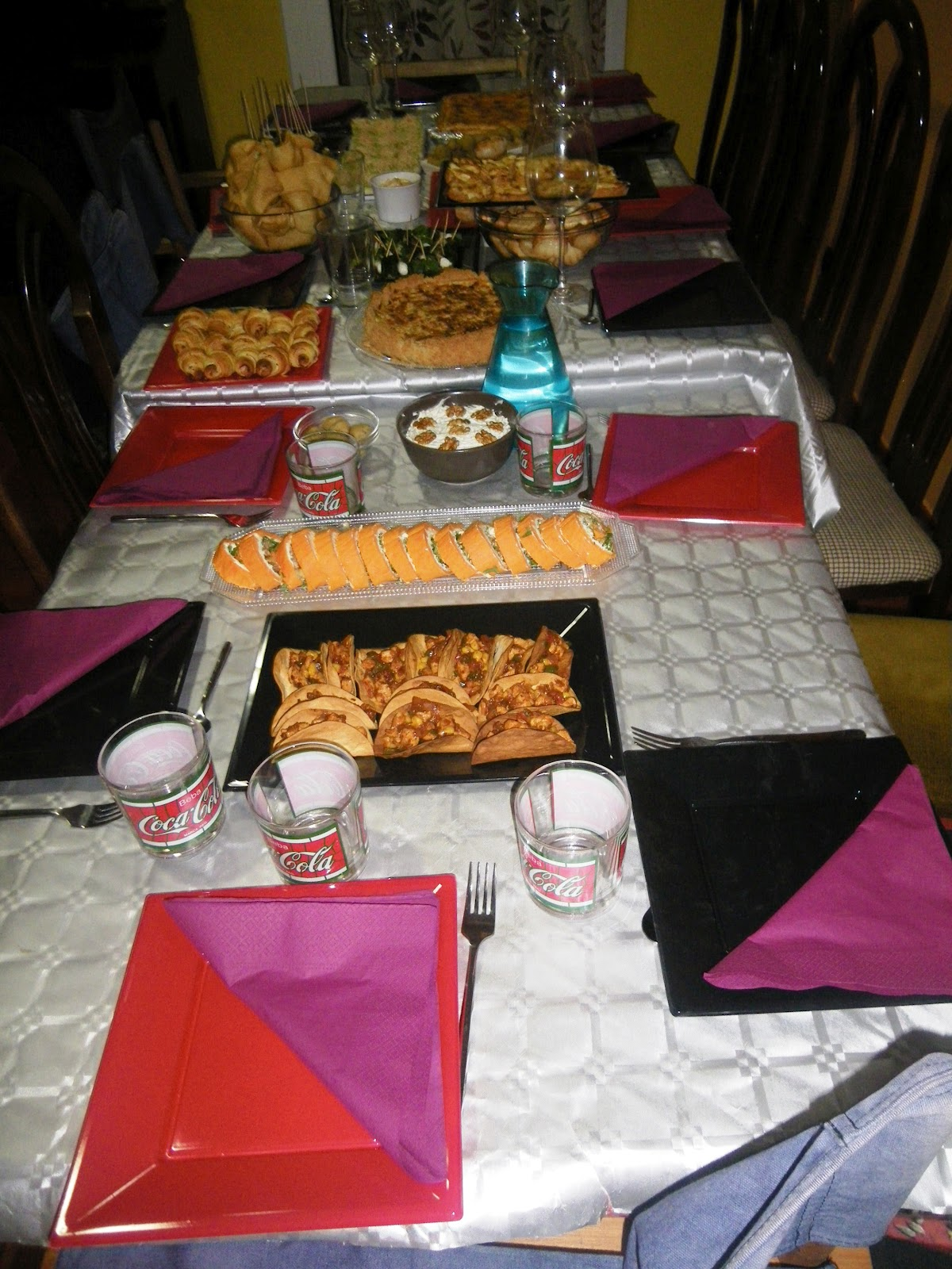 Omplint el vuit merienda cena de cumplea os - Que poner en una merienda de cumpleanos ...