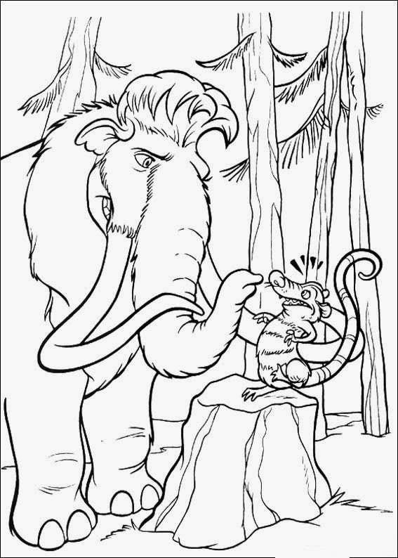 Fun Coloring Pages: Ice Age Coloring Pages