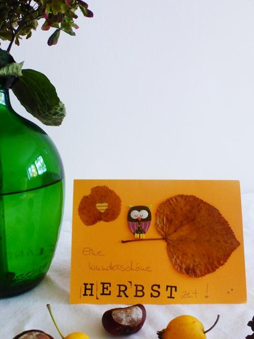 Postkarte Herbst Autumn