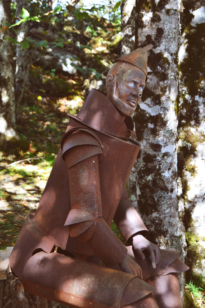 Rusted Tin Man statue