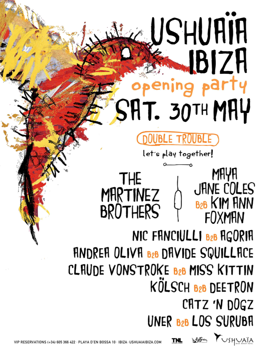Ushuaïa Ibiza Beach Hotel opening party 2015 Line Up