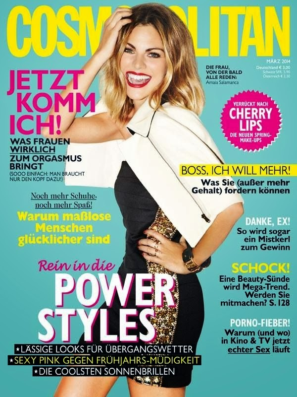 Amaia Salamanca Photos from Cosmopolitan Germany Magazine Cover March 2014 HQ Scans
