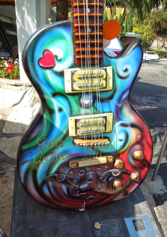 Janis Joplin GuitarTown homage Sunset Strip