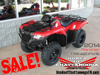 2014 Rancher 420 Sale Price Wholesale Honda of Chattanooga ATV Dealer TN TRX420FM1E
