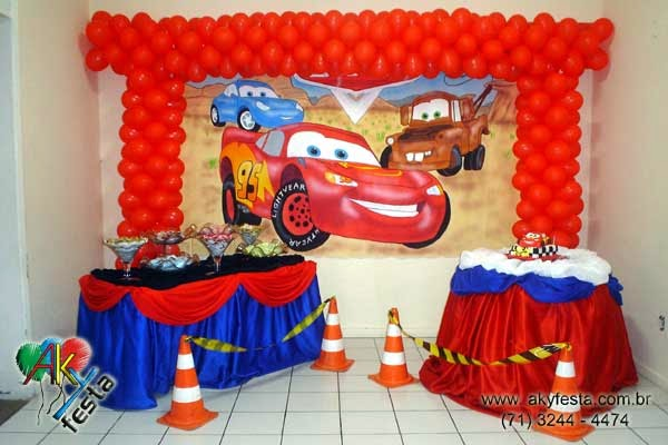 Todo para tus fiestas ideas fiesta cars rayo mcqueen for Decoracion para todo