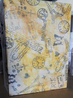 handmade stamped tissue paper
