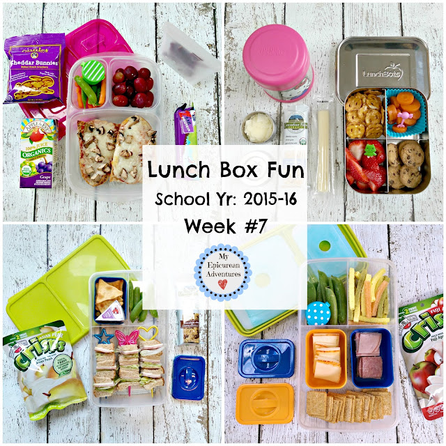 My Epicurean Adventures: Lunch Box Fun 2015-16: Week #7. Lunch box ideas, school lunch ideas, lunches