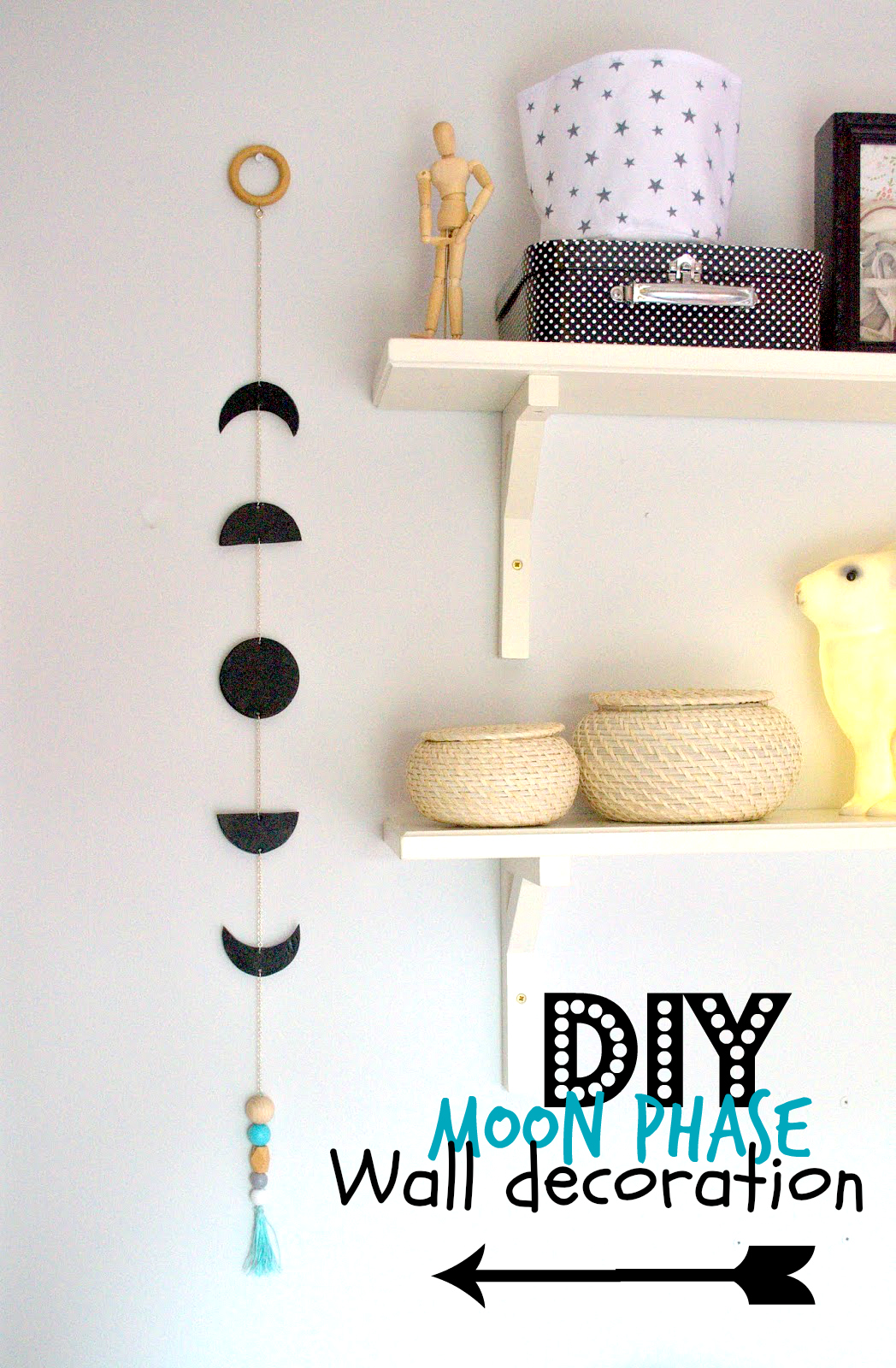 Diy moonphase wall decoration