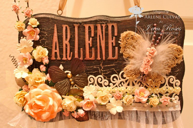 Click HERE to watch a video of how I altered this altered hanging sign ...