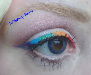 eye makeup rainbow eyeliner