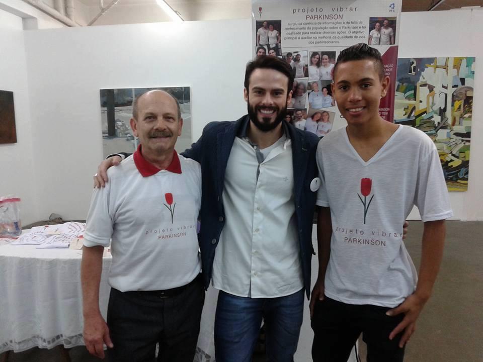 Manoel com Raphael Montagner e Felipe Santos