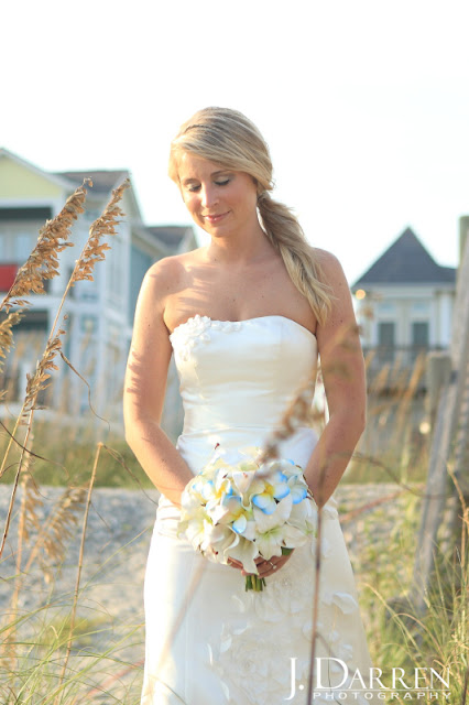 photo of Emerald Isle beach wedding in North Carolina