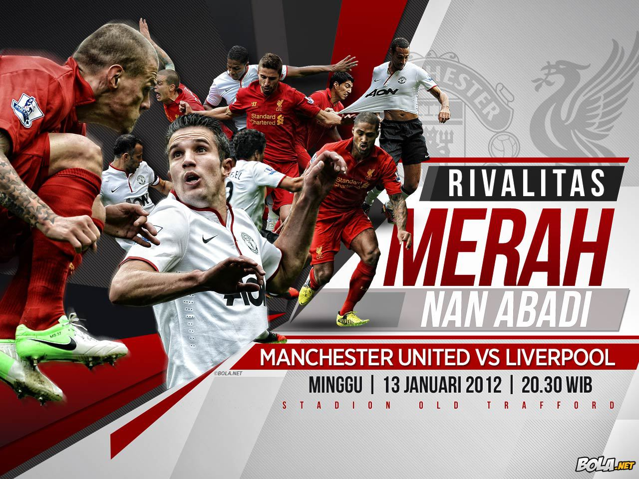 Manchester United vs Liverpool 13 Januari 2013