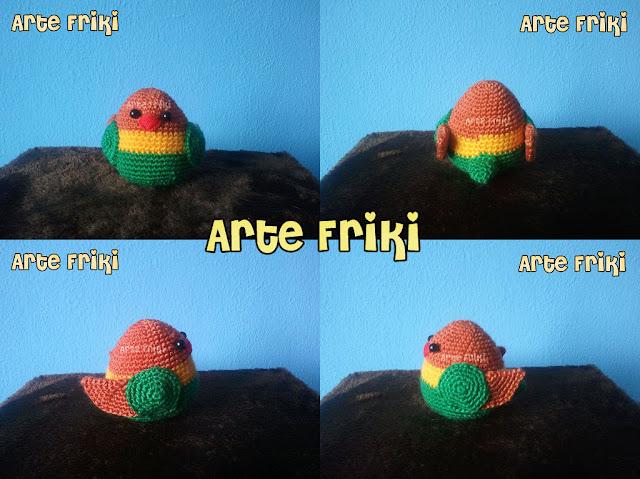 argaponi lovebird pájaro periquito bird amigurumi crochet ganchillo plush doll muñeco