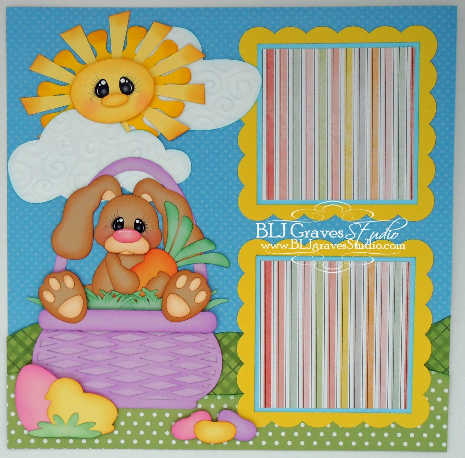 Scrapbook ideas easter - Easter Bunny Scrapbook Pages