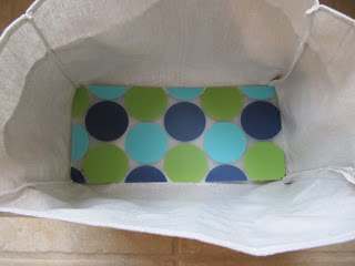 cut out your place mat and in it goes you can make a little pouch for it with the canvas to cover up the plastic