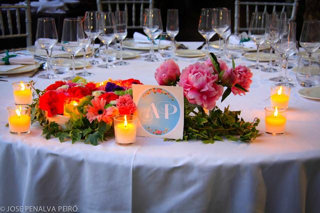 Decoración boda Valencia Mesa presidencial Paloma y Angel