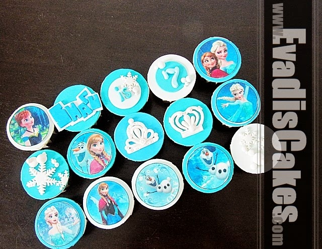 Overall view picture of Frozen cupcakes
