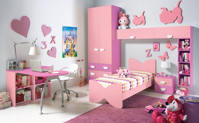Habitaciones con estilo dormitorios de ni a en rosa y lila for Decoracion de dormitorios infantiles de nina