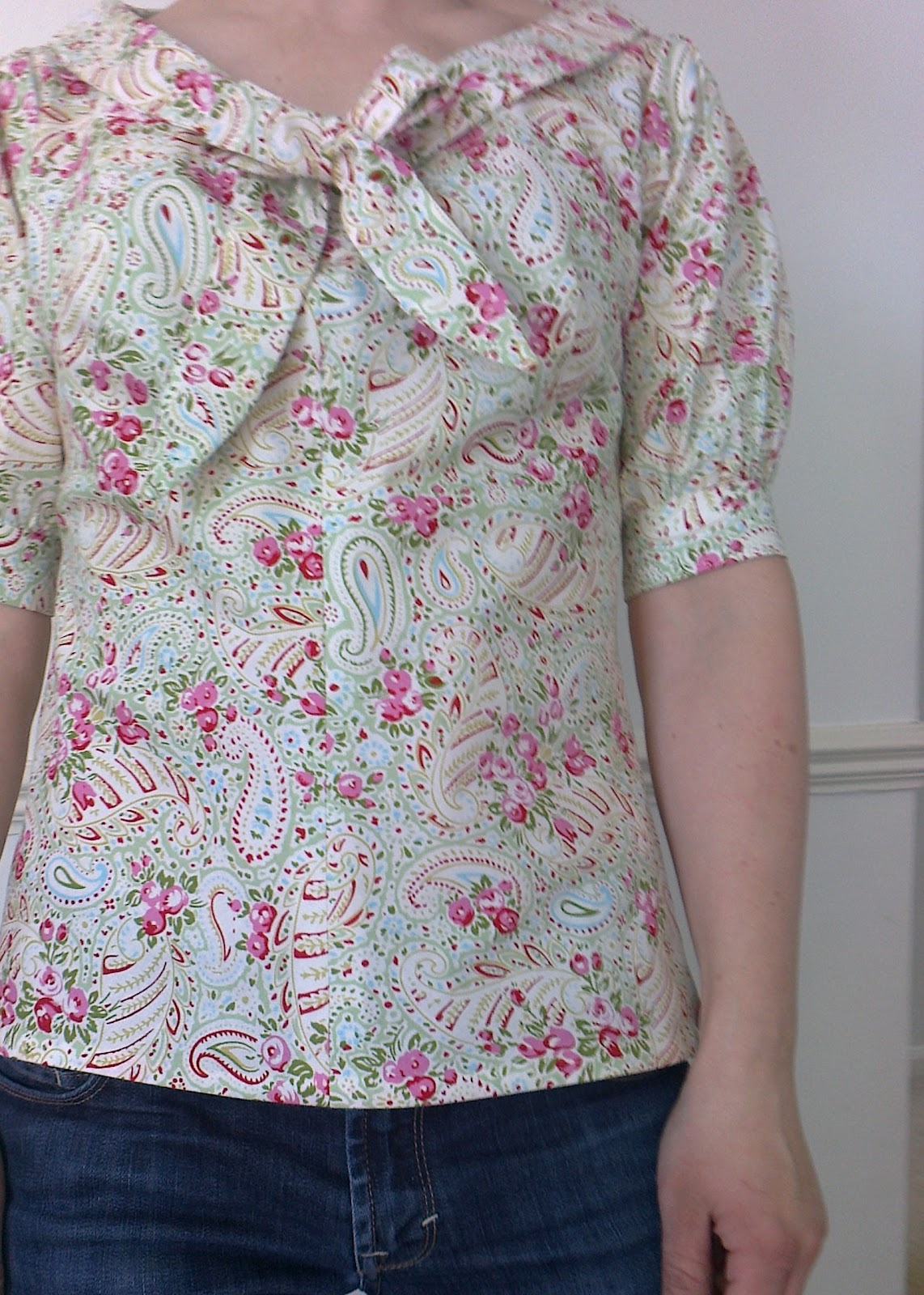 kitchen table sewing jasmine top