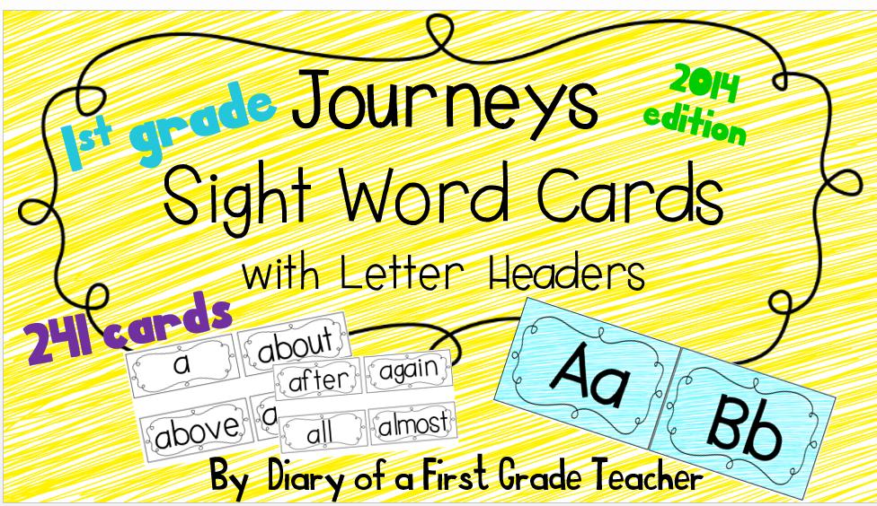 http://www.teacherspayteachers.com/Product/Journeys-2014-Sight-Word-Cards-First-Grade-1341605