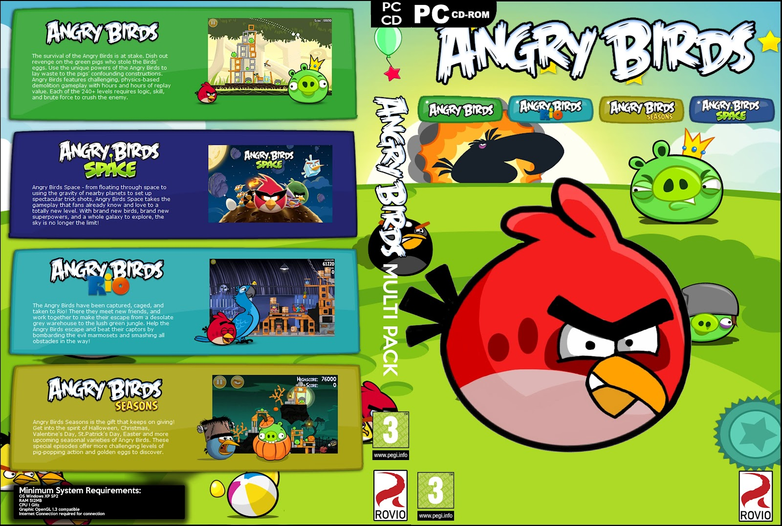 Angry birds game download for PC Features