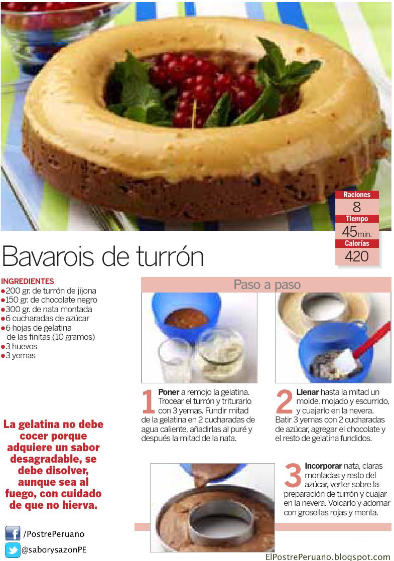 BAVAROIS DE TURRÓN - Receta sencilla - RECIPES