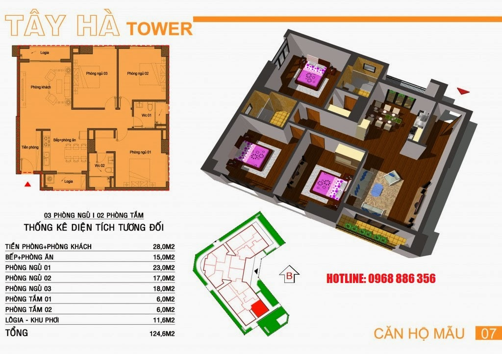Căn hộ số 7 chung cư Tây Hà Tower