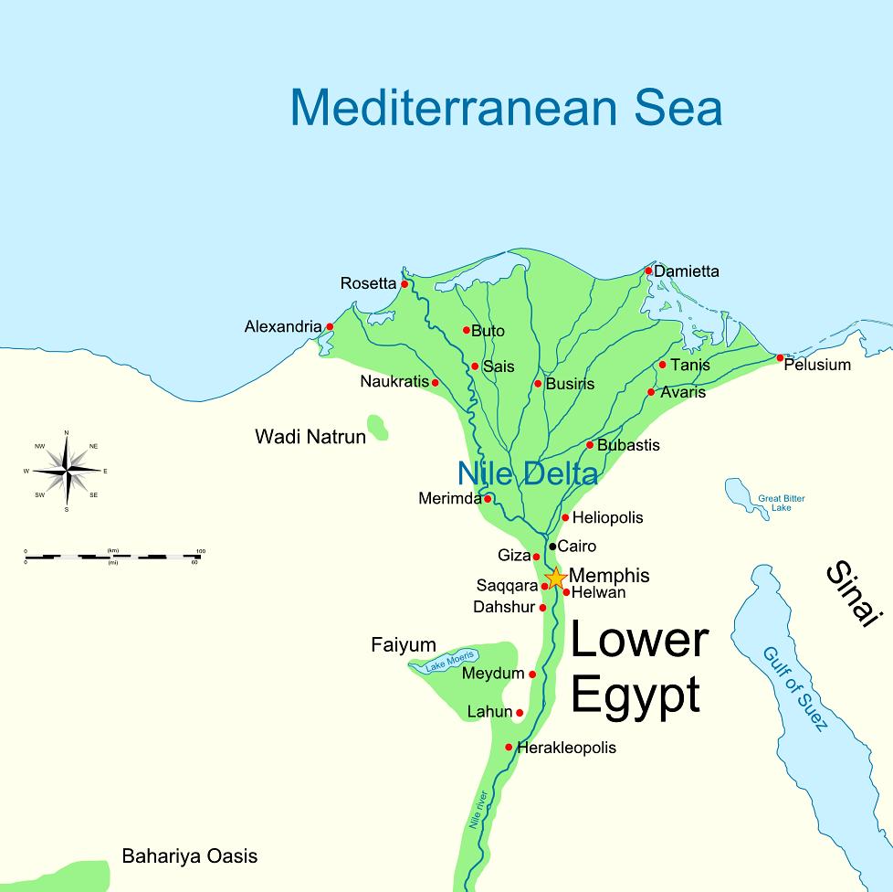 Goshen Egypt Map - Map of egypt oasis