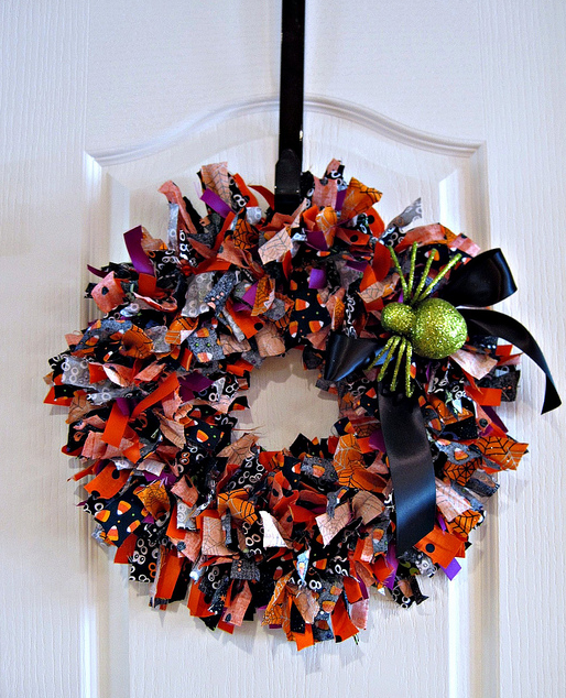 halloween rag wreath