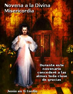 imagen de la  novena a la divina misericordia hoy viernes santo comiena