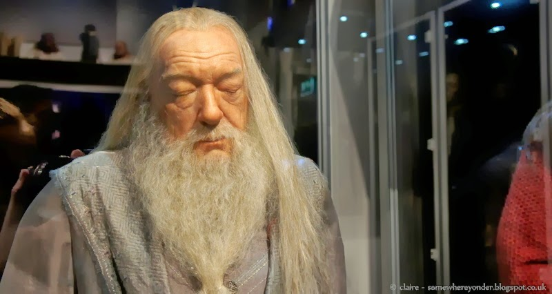 Wax statue of Albus Dumbledore - Harry Potter Warner Bros Studio Tour, Watford