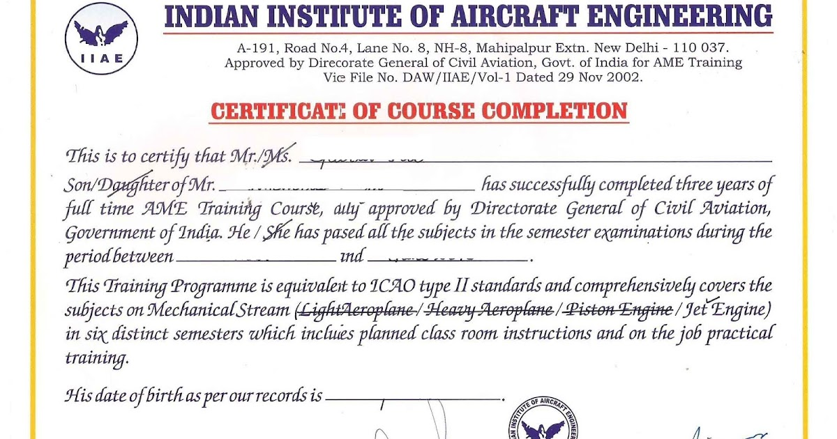 Training Completion Certificate Format Zrom