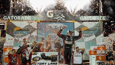 Gray Gaulding celebrates his first career win in the NASCAR K&N Pro Series with a victory at Phoenix International Raceway.
