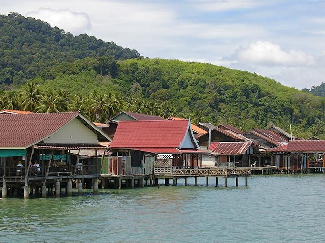 Maisons sur pilotis à Lanta Town, Koh Lanta