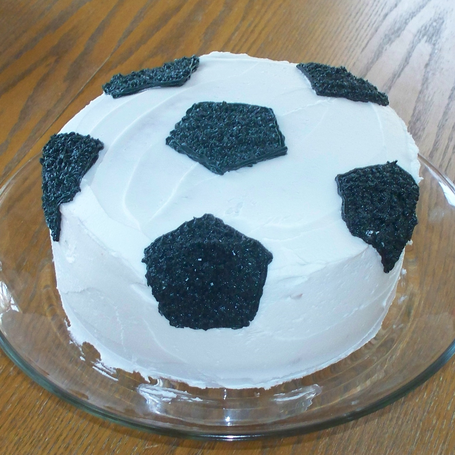Cake With Ball Design : Make Do: Soccer Ball Cake