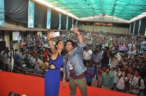 Varun Dhawan and Nargis Take Bus Ride To Promote Main Tera Hero Movie