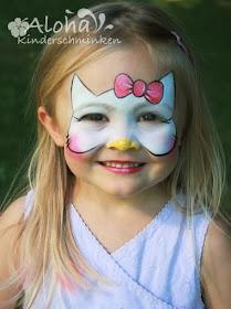 Pintar la cara Hello Kitty