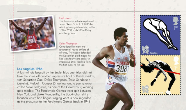 Olympic Prestige Book - pane 4 Los Angeles 1984.