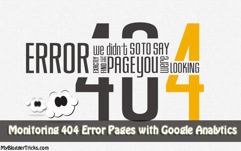 Monitoring 404 error pages with Google Analytics