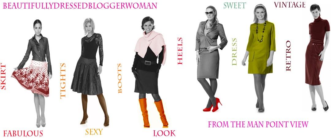 fabulous dressed blogger woman