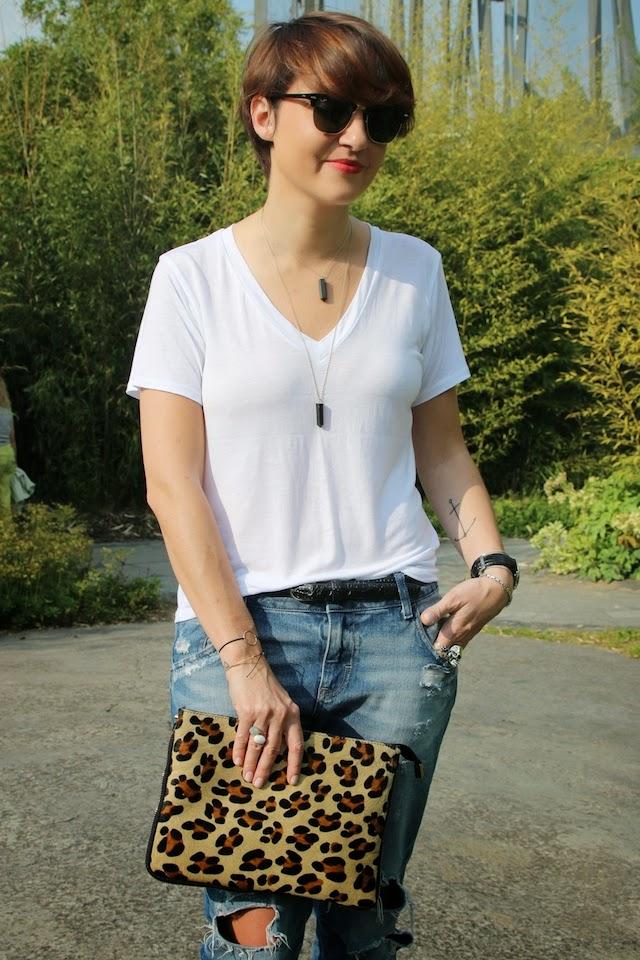 zara, pretty wire, léopard, juste juliette, rayban, clubmaster, minelli, blog mode lille, fashion blogger, blog mode, t-shirt blanc, jean boyfriend
